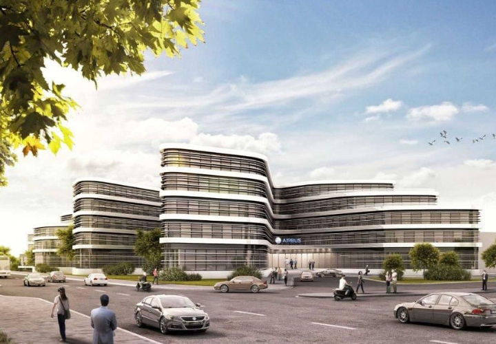 Current project: Construction of a new service center, Airbus, Hamburg-Finkenwerder